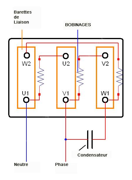 calcul du condensateur pour passer un moteur triphas u00e9 en monophas u00e9